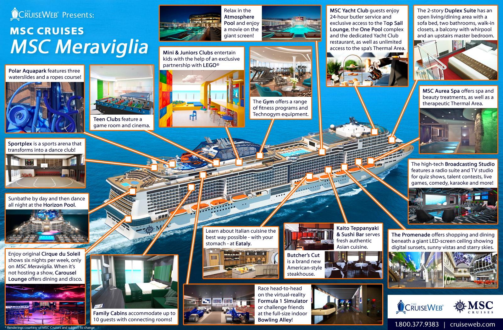 carnival cruise ship diagram audi a2 wiring infographic: virtual tour of msc meraviglia | the web blog