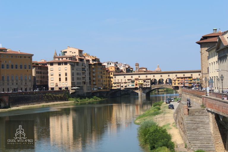 Wonderful views of the Ponte Vecchio from the Ponte alle Grazie