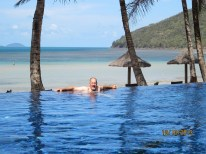 Off the infinity pool, onto the beach and into the ocean.