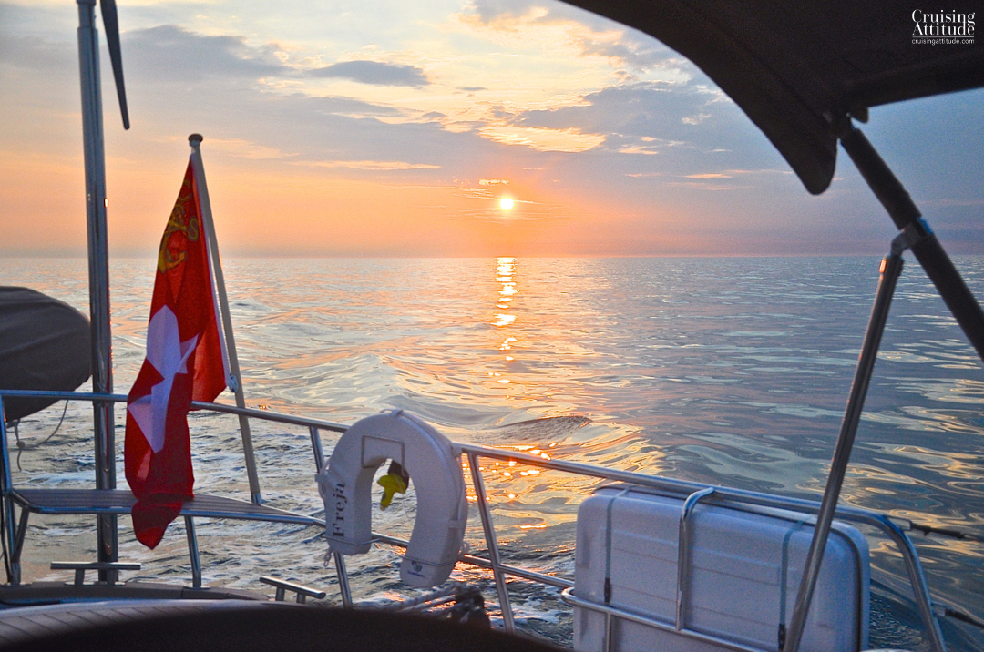 Sunset North Sea | Cruising Attitude Sailing Blog - Discovery 55