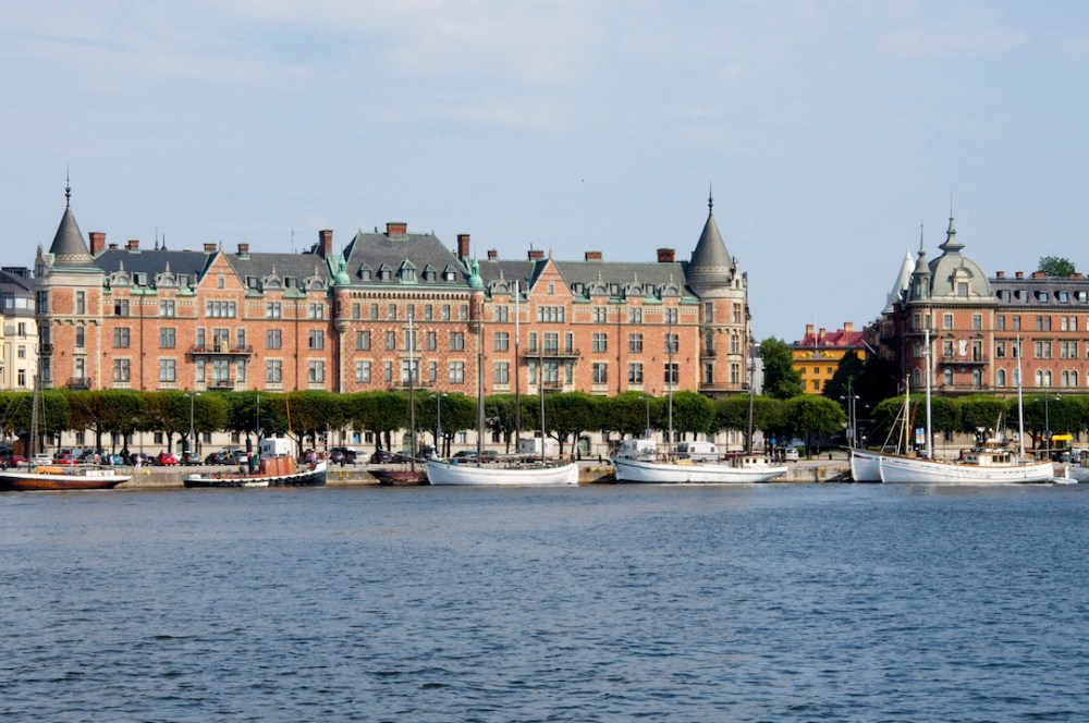 Boats docked on beautiful Strandvägen in Stockholm | Cruising Attitude Sailing Blog - Discovery 55