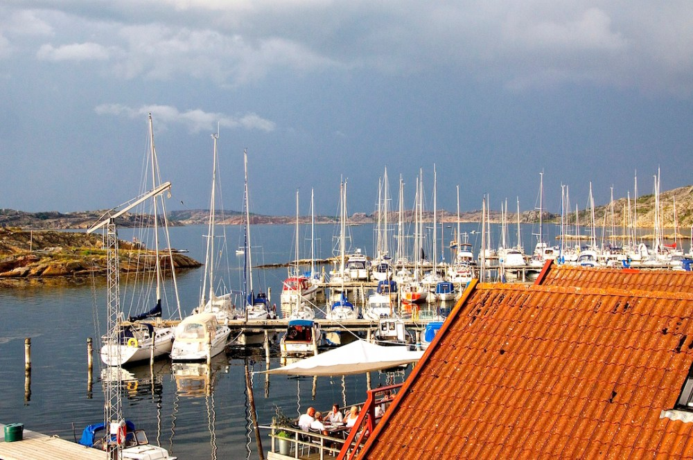 View from our hotel room at Björholmens marina | Cruising Attitude Sailing Blog - Discovery 55