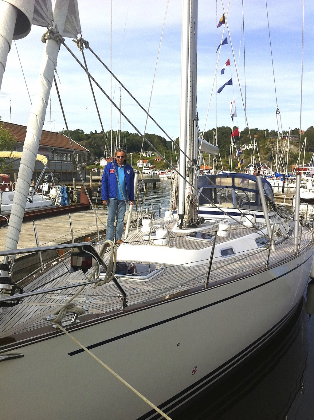 The boat that started it all - at the marina in Henån, where the Najad yachts were made | Cruising Attitude Sailing Blog - Discovery 55