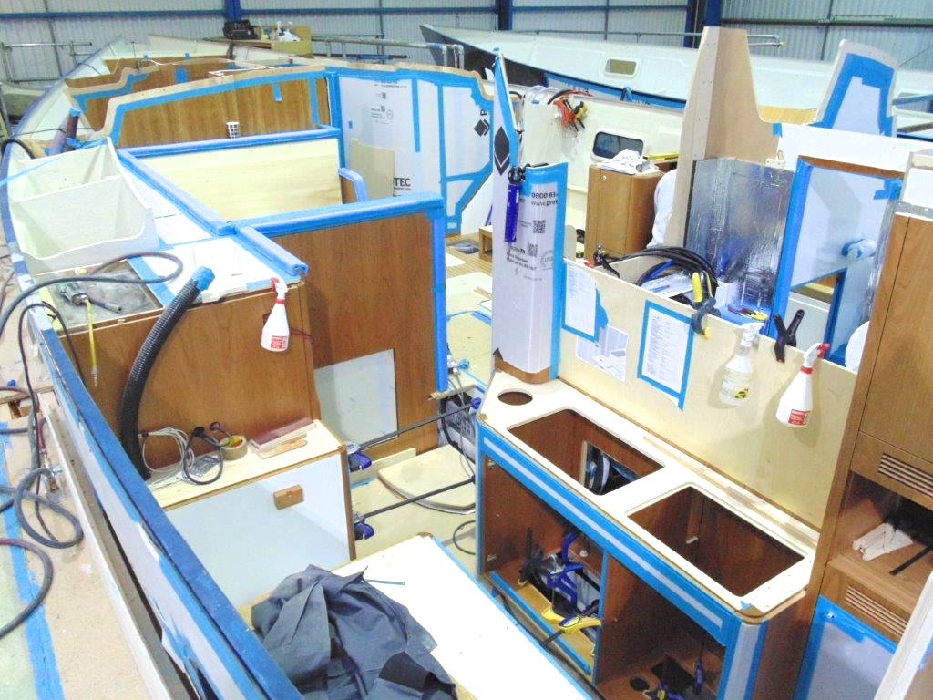 Galley build | Cruising Attitude Sailing Blog - Discovery 55