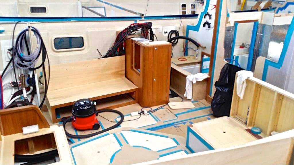 Navigation station build | Cruising Attitude Sailing Blog - Discovery 55
