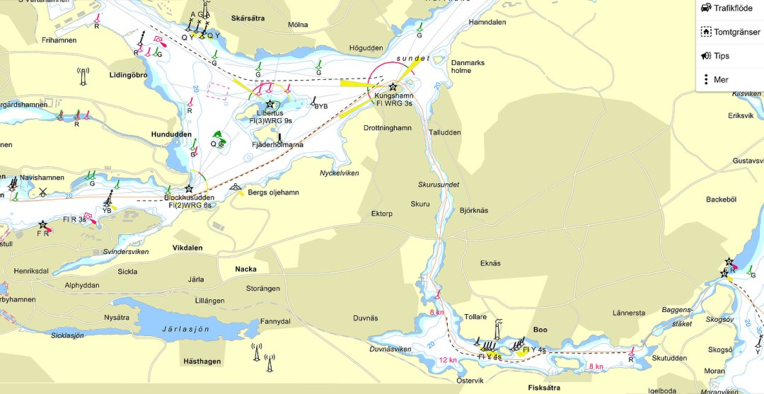 Stockholm southern approach - Cruising Attitude Sailing Blog | Discovery 55