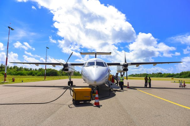 Domestic flight Refuelling MAldives