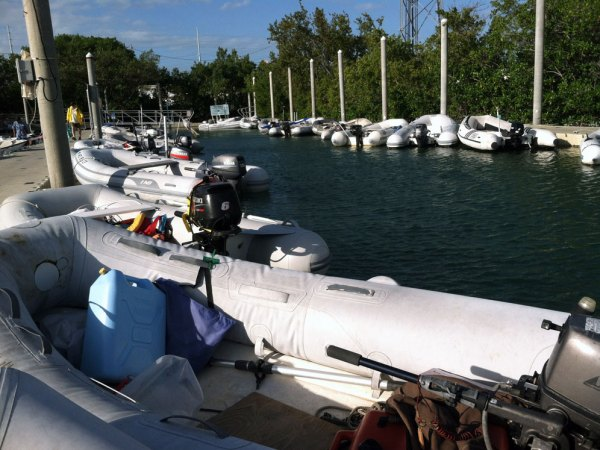 One of two dinghy docks at the City Marina