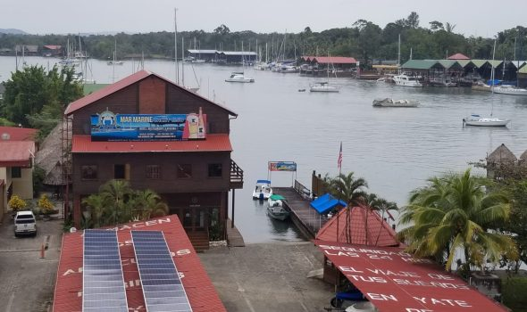 Rio Dulce view of Mar Marine from bridge