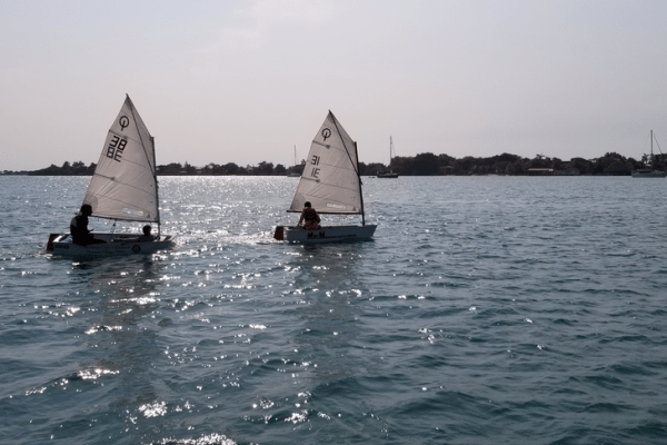Young sailors in Placencia harbour