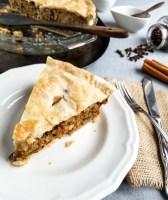 Slice of Vegan Tourtière Pie