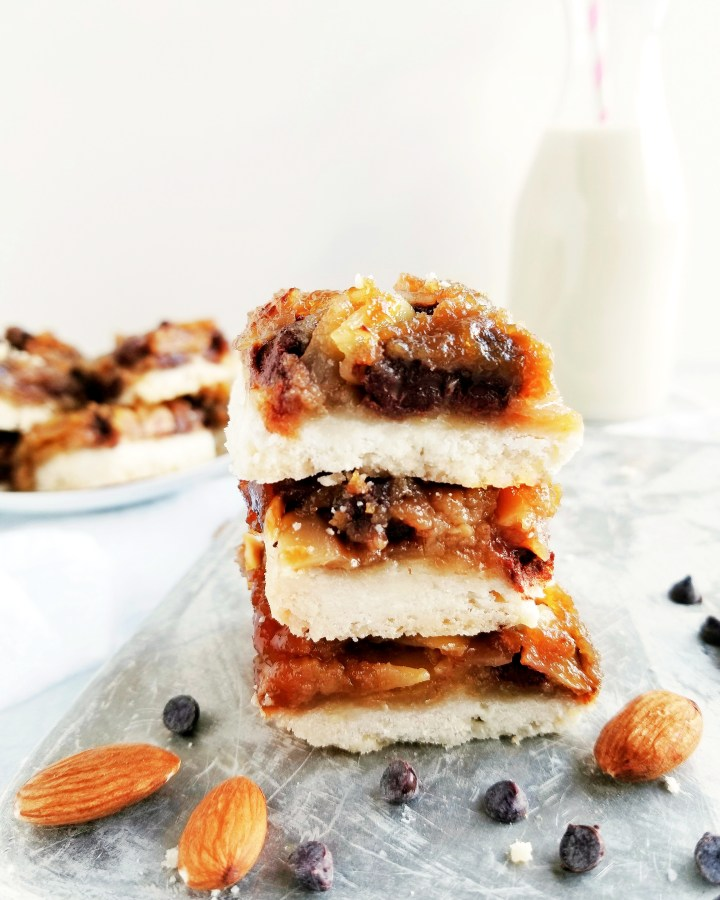 Vegan Chocolate Almond 'Butter Tart' Squares
