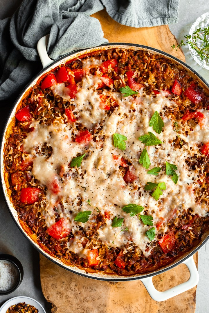 Vegan Unstuffed Pepper Skillet – Gluten-Free Option