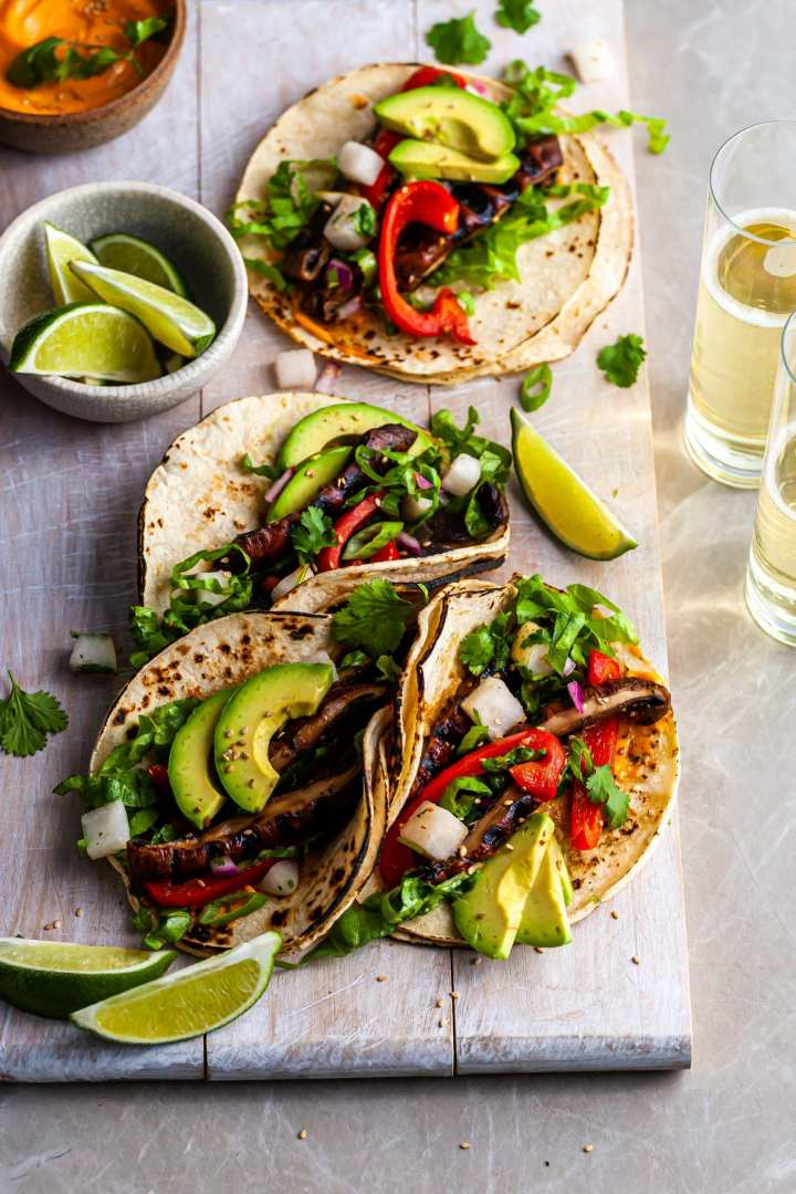 Korean Portobello Tacos