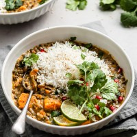 Sweet Potato Lentil Curry - Vegan & Gluten-Free