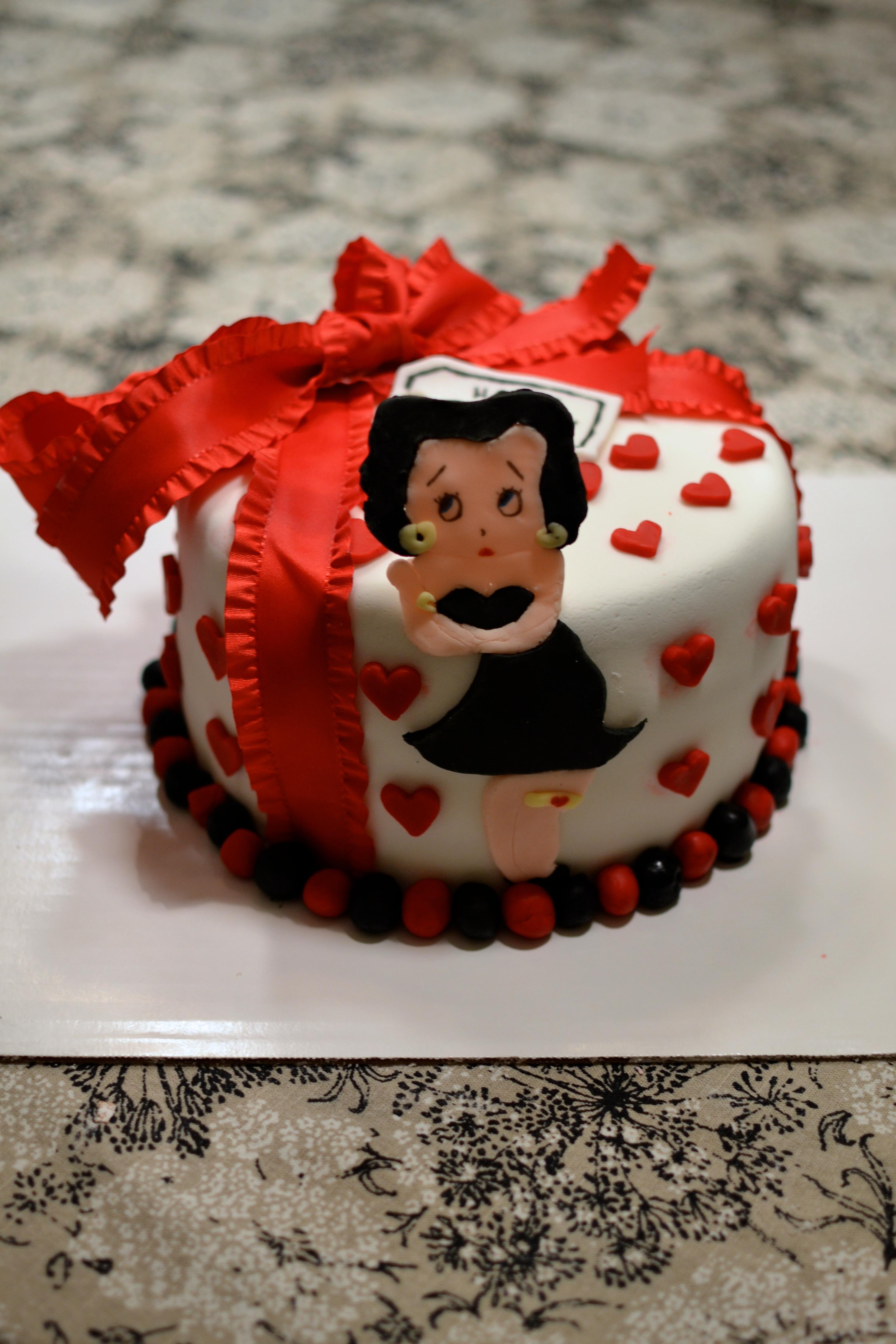 Betty Boop Fondant Cake Crumbs And Tea