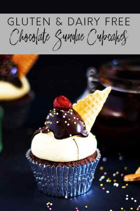 These cute chocolate sundae cupcakes are a fun twist on a classic - and believe it or not they are gluten and dairy free!