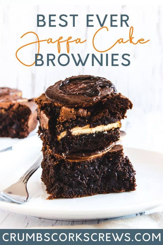 Jaffa Cake Brownies - Pinterest Image