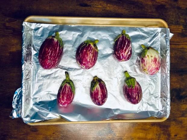 unroasted graffiti eggplant