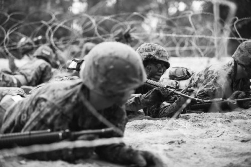 Marine recruits receive basic combat training skills on Parris Island