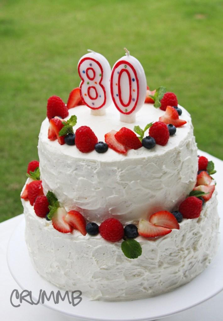 Dads 80th Birthday Cake Crummb