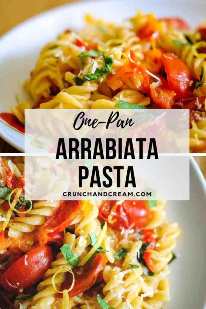 A quick and easy arrabiata using fresh tomatoes and red chilli peppers. It's all made in one pan for minimal washing up, and makes a perfect light summer dinner or filling lunch!