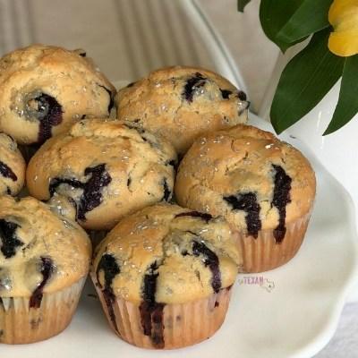 Lazy Sunday Morning Blueberry Muffins