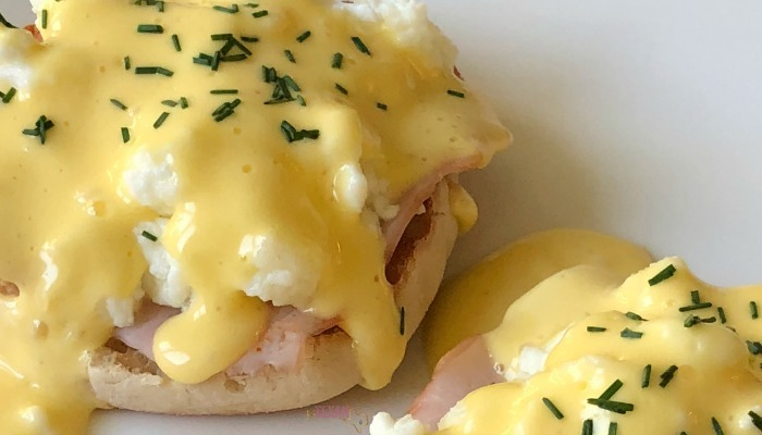 Cheater's Eggs Benedict with Quick Hollandaise Sauce gives you all the rich, creamy, tart flavor you want with ONE PAN in under 10 minutes! It's every mama's dream for a quick breakfast or brunch that looks like it took all morning to make.