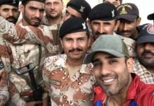 Ravi Bopara Selfie with Rangers