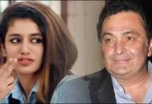 Rishi Kapoor and Priya Prakash Varrier