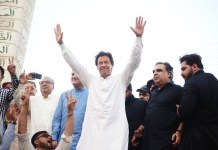 Imran Khan in Rawalpindi 8 April 2018
