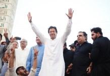 Imran Khan in Rawalpindi 8 April 2018