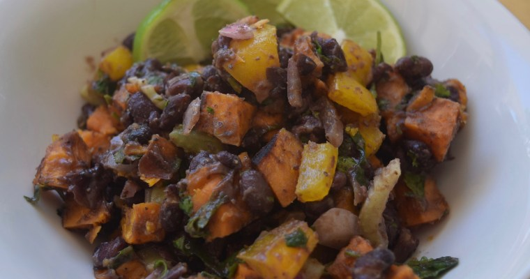 Southwestern Sweet Potato & Black Bean Salad (Vegan & Gluten Free)