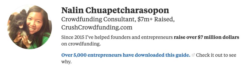 nalin chuapetcharasopon has helped raised over $13 dollars on crowdfunding coaching creators