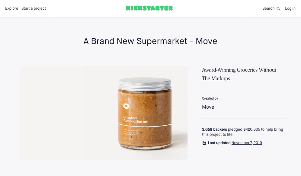 move supermarket got crowdfunding success