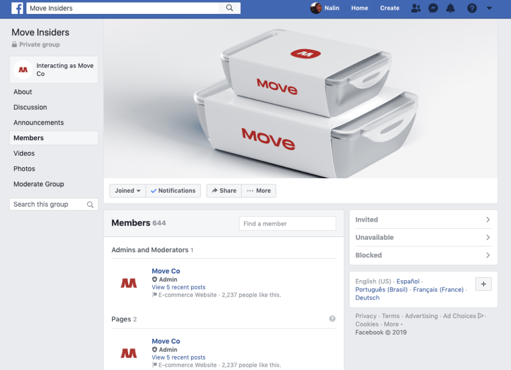 move used an exclusive facebook group to get their crowdfunding success