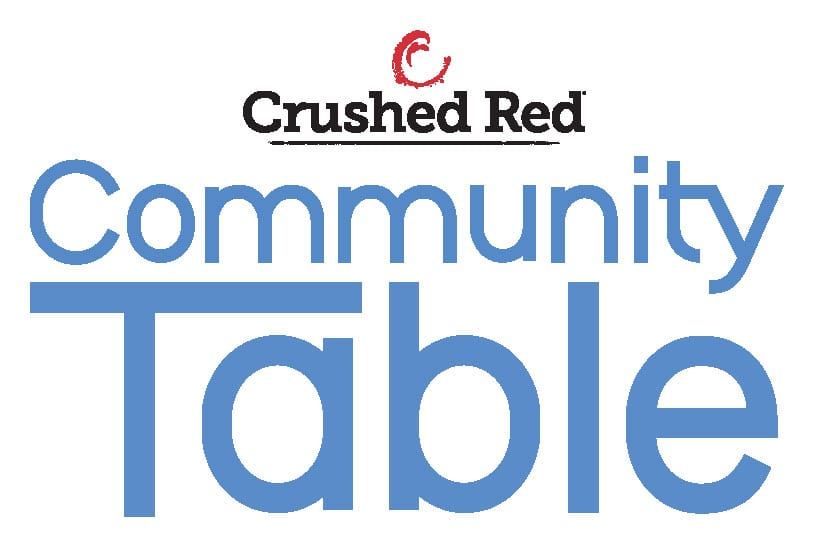 Crushed Red Community Table Logo