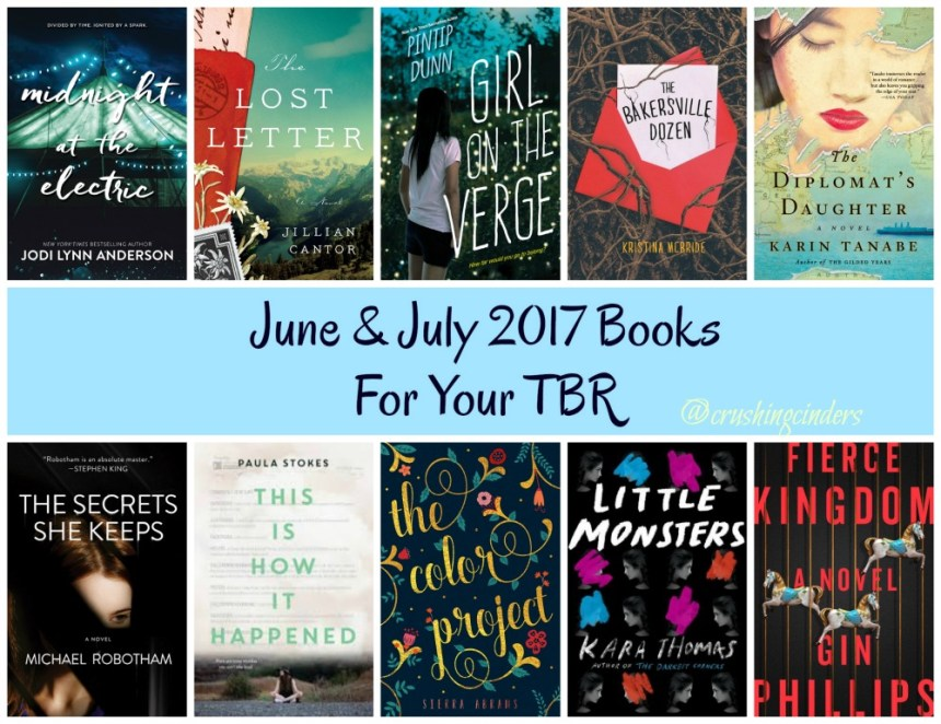June & July 2017 Books For Your TBR