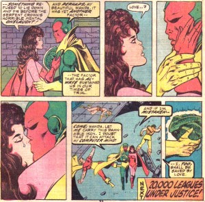 Scarlet Witch and Vision close out Avengers #147 with this emotional scene.
