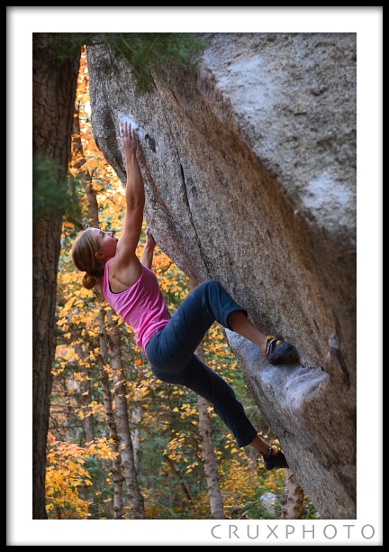 Elizabeth Hardwick on Surprise in Little Cottonwood Canyon.  Copyright Nate Young and Crux Photo.