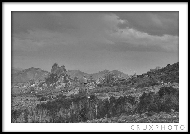City of Rocks.  Copyright Nate Young and Crux Photo.