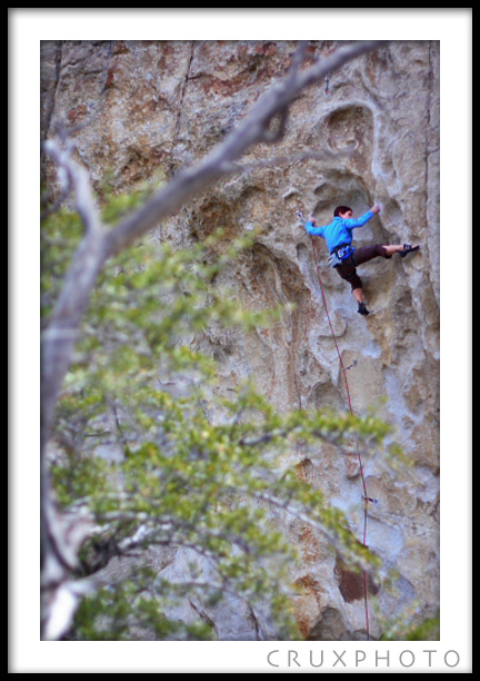 Jess Taverna on Smoke Signal at City of Rocks.  Copyright Nate Young and Crux Photo.
