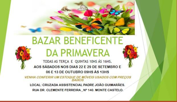 BAZAR BENEFICENTE PADRE JOÃO GUIMARÃES