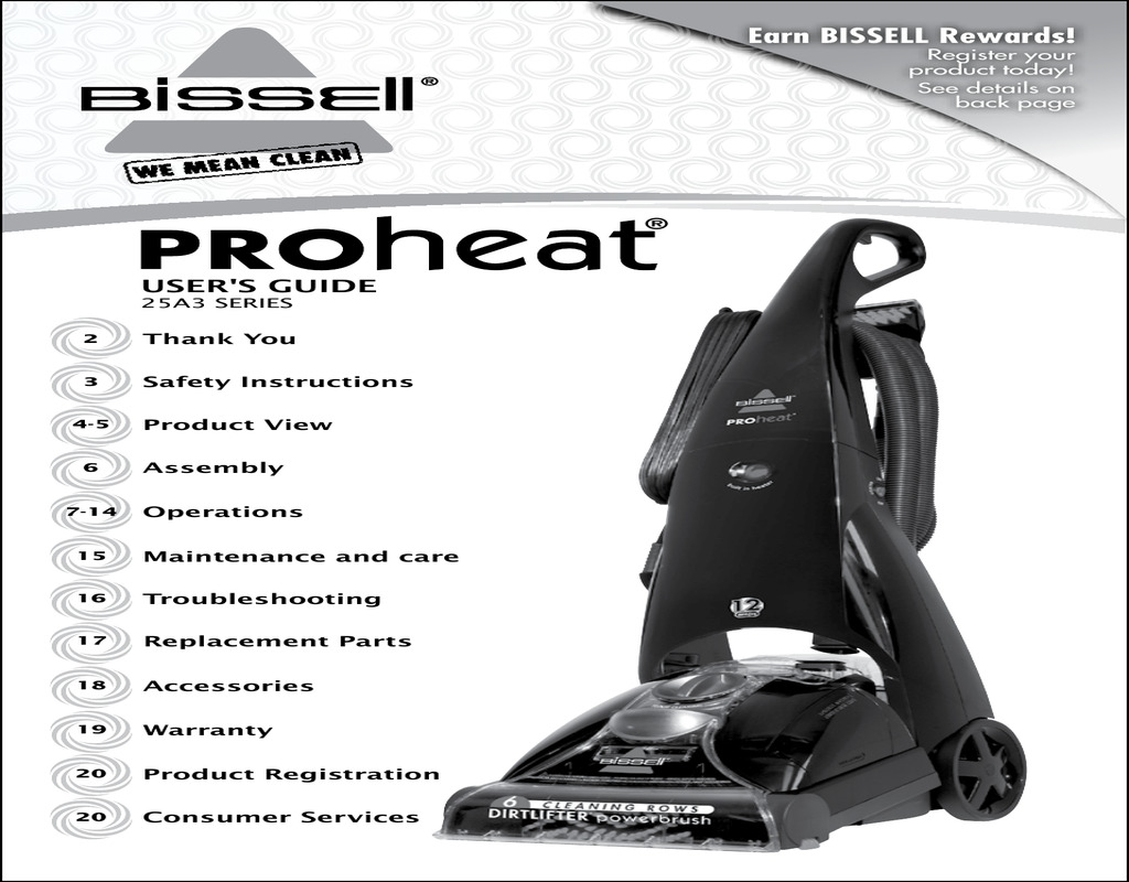 Bissell Carpet Cleaner Instruction Manual