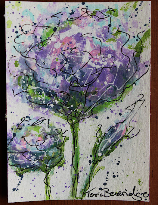 Photo of Purple Expressionist Floral by Tori Beveridge
