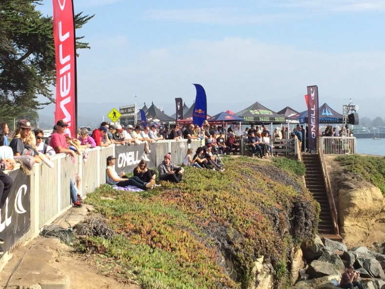A good crowd on Friday in one of the brief moments of sunny weather!