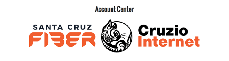 Cruzio Internet account center