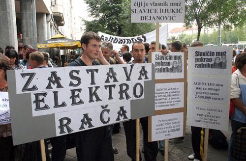 Radnički protest protiv privatizacije