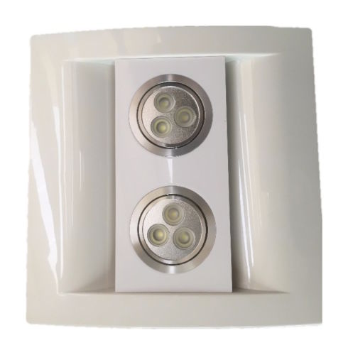 kitchen ceiling exhaust fan apron sink bathroom extractor with led light 100mm 4 white or silver front panel