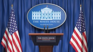 briefing trump podium press daily coronavirus empty briefings administration themselves deadly pandemic position win global during using